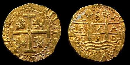 8 escudos Lima 1710