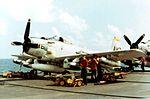 A-1H of VA-165 is armed on USS Intrepid (CVS-11) 1966.jpg