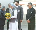 A.P.J. Abdul Kalam being welcomed by the Prime Minister, Dr. Manmohan Singh at Palam Technical Area, after his arrival from Singapore, Philippines and Republic of Korea, in New Delhi. The Union Home Minister.jpg