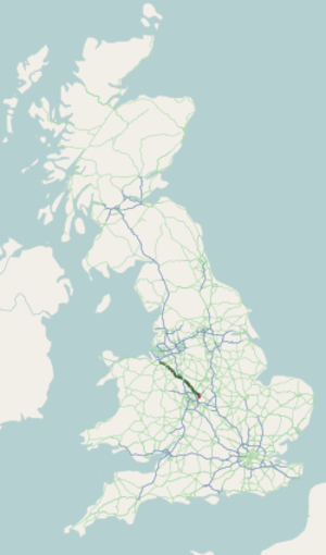 A51 road - Image: A51 road map