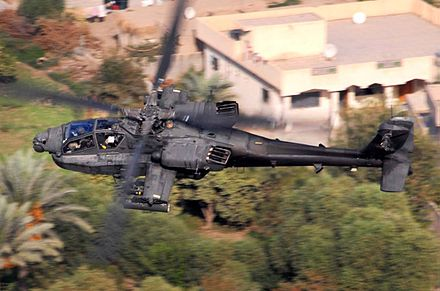 AH-64D over Baghdad, Iraq on a reconnaissance mission, 2007 AH-64 from above.jpg