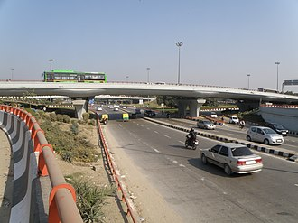 Sri Aurobindo Marg - Interchange with Ring Road