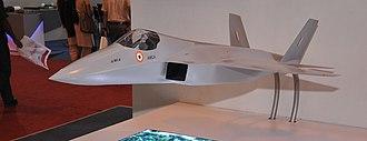 HAL AMCA - A model of AMCA displayed at Aero India 2013