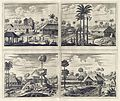 AMH-7004-KB Four views of the churches of Poelepolay, Mogommate, Tambamme, Mulipatto.jpg