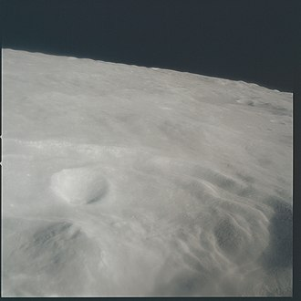 Römer (crater) - Apollo 15 captured this view as it flew over Römer at low altitude.