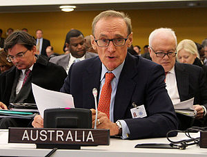 Bob Carr - Opening negotiations on an arms trade treaty, United Nations, New York 20 March 2013.