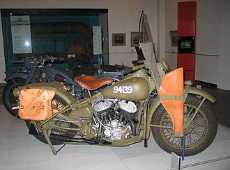 Harley-Davidson WLA - A Harley-Davidson 42WLA on display at the Australian War Memorial in Canberra, Australia.
