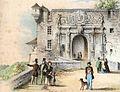 A Gatternicht - Das äußere Schloßthor in Tübingen Farblithografie 1857 Inv9007 (SW071).jpg