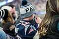 A Patriots fan watches the final seconds of Super Bowl LII, Minneapolis MN (28338970549).jpg