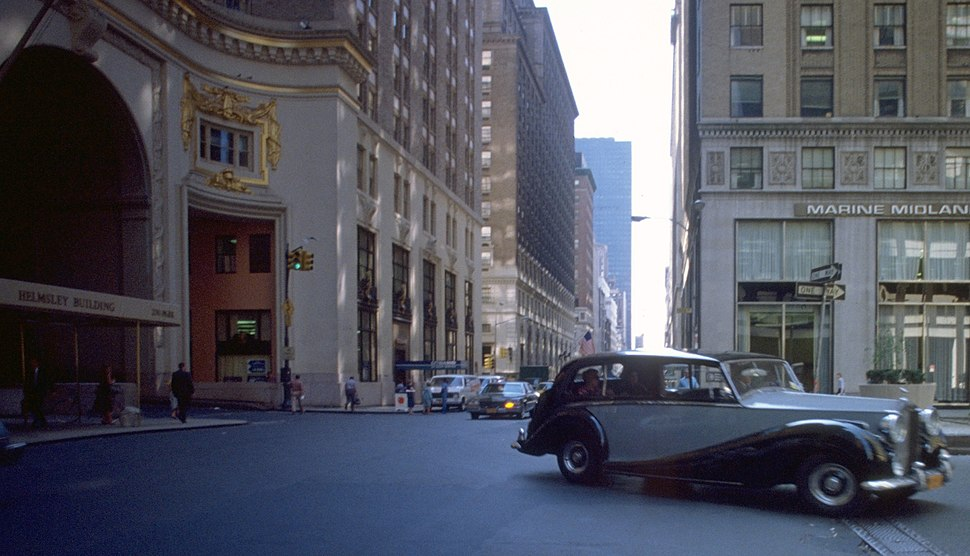 A Rolls Royce 1981 at 230 Park Avenue - in front The Helmsley Building