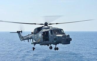 Royal Malaysian Navy - RMN Super Lynx ASW helicopter.