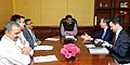 A delegation led by the Ambassador of the Kingdom of Belgium to India, Mr. Jan Luykx meeting the Minister of State for Petroleum and Natural Gas (Independent Charge), Shri Dharmendra Pradhan, in New Delhi on April 07, 2015.jpg