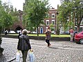 A lone piper in Abbey Square - geograph.org.uk - 858067.jpg