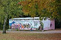 A much graffitied shed in War Memorial Park - geograph.org.uk - 738350.jpg