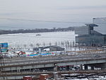 A small Ro-Ro ferry serves residents of Ward's Island, year-round, even when the harbour is covered in ice, 2014 01 01 -a.jpg