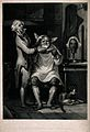 A village barber shaving a man. Mezzotint by S.W. Reynolds a Wellcome V0019624.jpg
