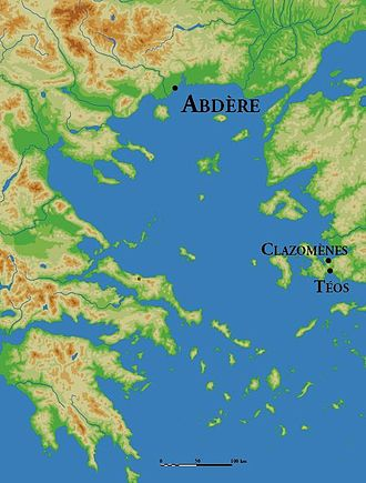 Abdera, Thrace - Location of Abdera and its two successive metropolises, Clazomenae and Teos.