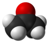 Spacefill model of deuterated acetone