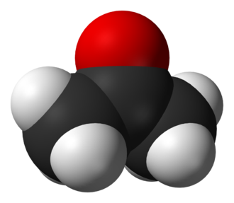 Deuterated acetone - Image: Acetone 3D vd W