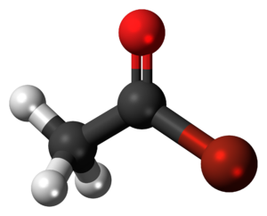 Acetyl bromide - Image: Acetyl bromide 3D balls