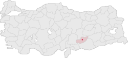 Adıyaman Turkey Provinces locator.png