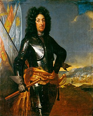Battle of Lesnaya - Adam Ludwig Lewenhaupt (1659 – 1719), Riga governor, by David von Krafft.
