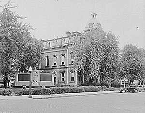 Decatur, Indiana - Adams County courthouse, Decatur, Indiana, 1935