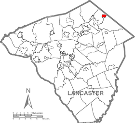 Adamstown, Lancaster County Highlighted.png