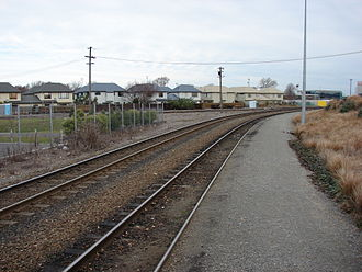 Main North Line, New Zealand - Addington Junction, the point at which the Main North Line meets the Main South Line
