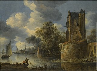 River Landscape with a Bastion