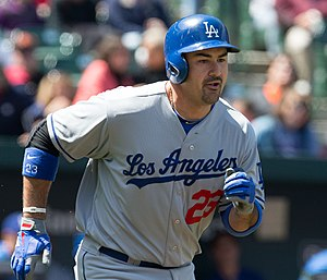 Adrian Gonzalez - González with Dodgers in 2013