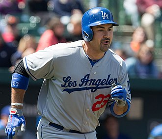 Adrián González - González with Dodgers in 2013