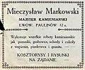 Advertisement Mieczysław Markowski stonemason (1914).JPG