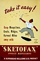 Advertisement for Sketofax insect repellent Wellcome L0032239.jpg