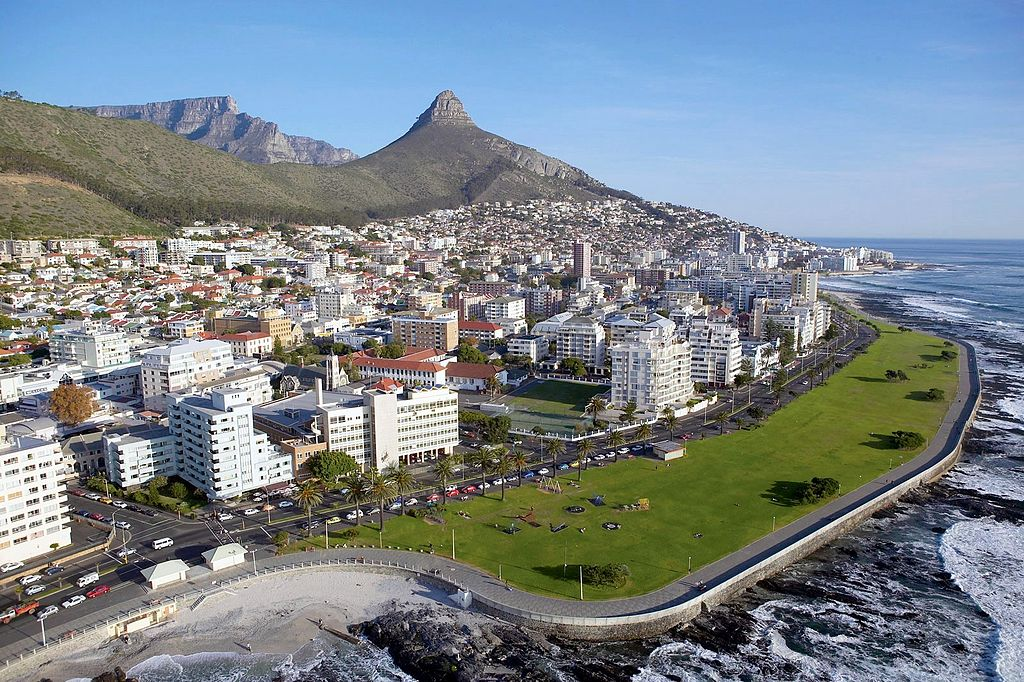 Aerial View of Sea Point, Cape Town South Africa