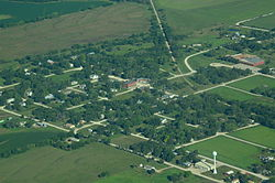 Aerial view of Admire, Kansas