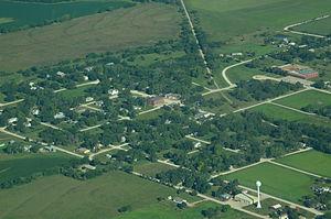 Admire, Kansas - Aerial view of Admire (2013)