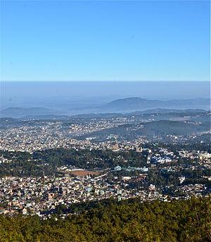 Shillong - Aerial view of Shillong