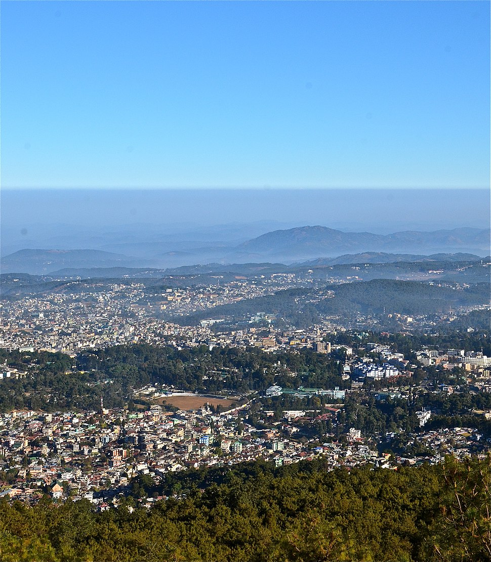 Aerial view of Shillong Meghalaya India