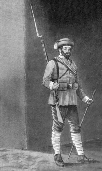 Afghan National Army - Afghan infantry soldier in 1890