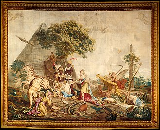 Jean-Jacques-François Le Barbier - Image: Africa from a set of The Four Continents MET DT1848