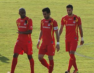 Foolad F.C. - Three Foolad players (Arash Afshin, Bakhtiar Rahmani and Chimba) wear the shirts for 2012–13 season