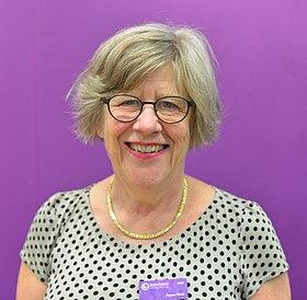 Agnes Wold efter ett seminarium på Bokmässan i Göteborg 2017.