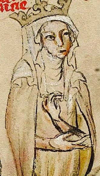 Agnes of Merania - Image: Agnes of Merania (Hedwig Codex)
