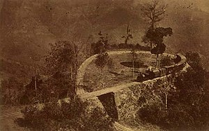 1881 in rail transport - A tight loop (Agony Point) on the Darjeeling Himalayan Railway