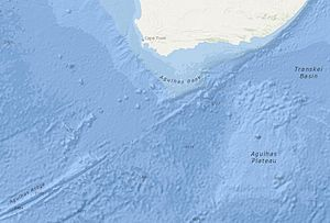 Agulhas Bank - The Agulhas Bank relative to the Agulhas Ridge, Basin, and Plateau