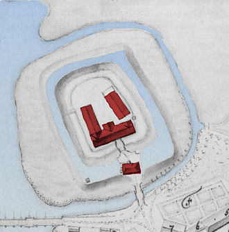 Ahlden House - Plan of the house in 1747