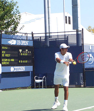 Aisam-ul-Haq Qureshi - Aisam at the U.S. Open Qualifying