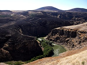 Akhurian River - The Akhurian River seen from the ancient Armenian capital of Ani in Turkey.