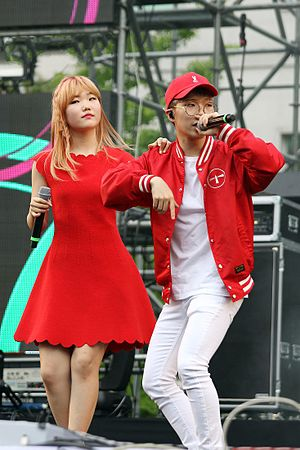 Akdong Musician - L-R: Lee Suhyun, Lee Chanhyuk
